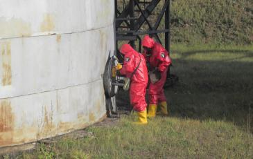 Установка МГУ1/Т3680 на аварийный резервуар