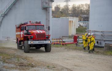 Прибытие пожарного расчета