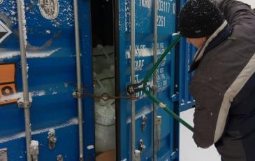Вскрытие аварийного контейнера