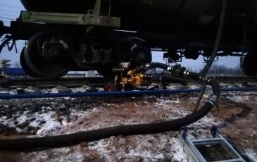 Перекачка дизельного топлива из аварийной цистерны