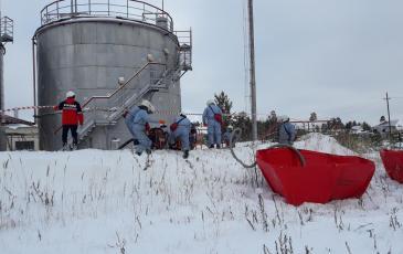 Расстановка ВХН-6к для временного хранения нефтепродукта