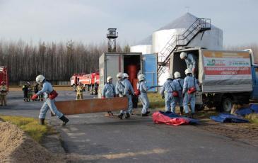 Прибытие спасателей Нижневартовского центра «ЭКОСПАС»
