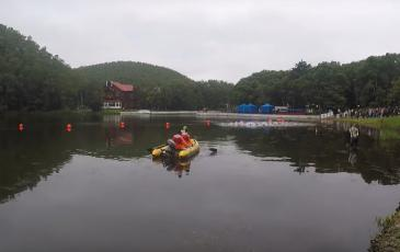 Сотрудники Сахалинского центра «ЭКОСПАС» не только отвечали за безопасное проведение спортивного мероприятия, но и приняли актив