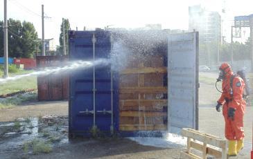 После открытия контейнера были проведены охлаждение и дегазация груза