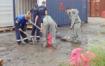 Финальная уборка территории проведения аварийно-восстановительных работ