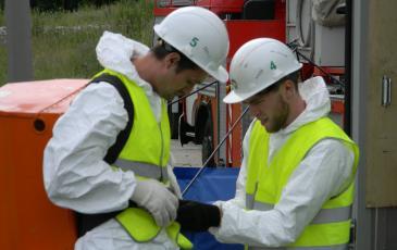 Спасатели «ЭКОСПАС» готовятся к обработке территории сорбентом