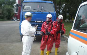 Инструктаж и постановка задач группе газозащиты