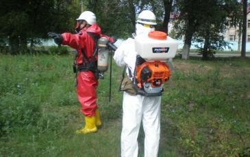 Проведение дегазации спасателя «ЭКОСПАС» при выходе из опасной зоны