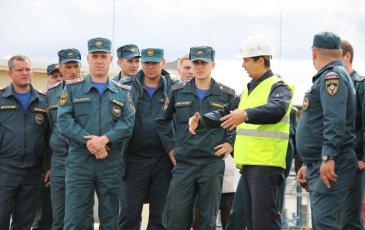 На учениях присутствовали представители администрация района и управления гражданской защиты ГУ МЧС России по Челябинской области