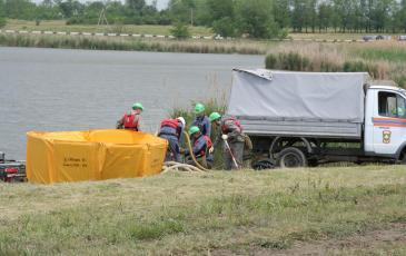 Развертывание комплекса ЛАРН спасателями «ЭКОСПАС»