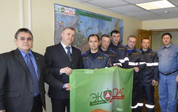 Руководство филиала со спасателями ТП в г. Новый Уренгой