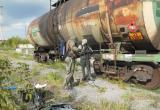 Аварийная железнодорожная цистерна