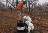 Работа участников на первом этапе «Ликвидация аварийного разлива нефтепродукта»