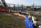 Установка подпорной стенки резервуара временного хранения